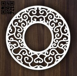 Circular decoration E0011899 file cdr and dxf free vector download for laser cut plasma