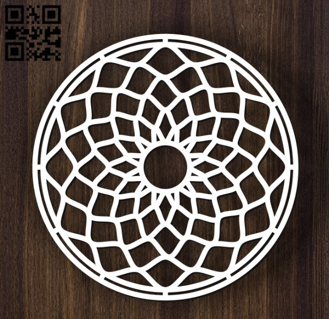 Circular decoration E0011900 file cdr and dxf free vector download for laser cut plasma