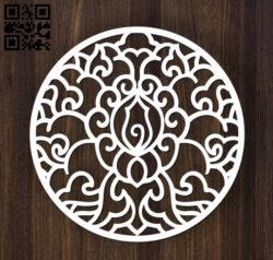 Circular decoration E0011901 file cdr and dxf free vector download for laser cut plasma
