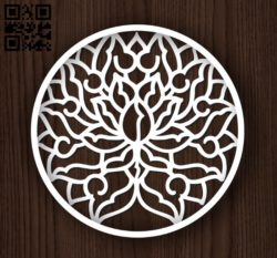Circular decoration E0011942 file cdr and dxf free vector download for laser cut