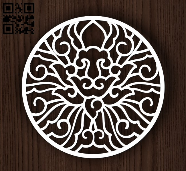 Circular decoration E0011943 file cdr and dxf free vector download for laser cut plasma