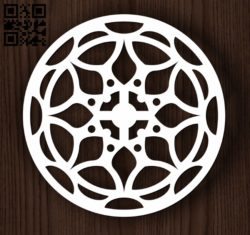 Circular decoration E0011944 file cdr and dxf free vector download for laser cut plasma