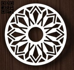 Circular decoration E0011945 file cdr and dxf free vector download for laser cut plasma