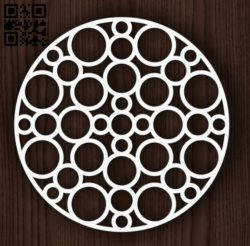 Circular decoration E0011946 file cdr and dxf free vector download for laser cut plasma