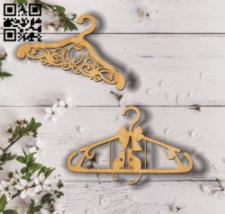 Clothes hangers E0011831 file cdr and dxf free vector download for Laser cut