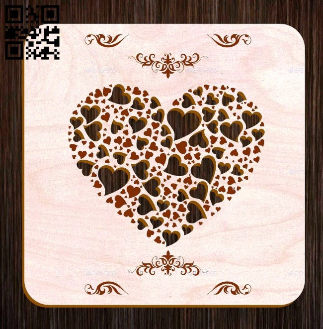 Cover heart E0011683 file cdr and dxf free vector download for laser cut