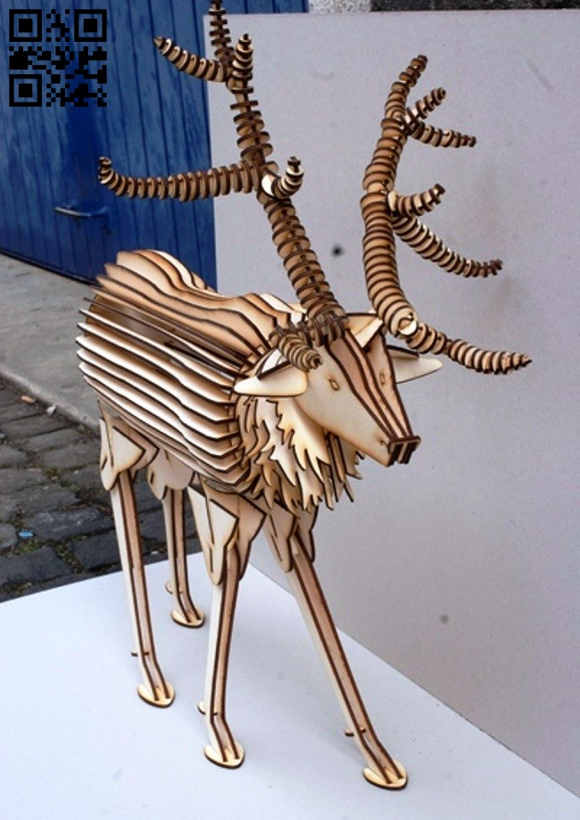 Deer E0011918 file cdr and dxf free vector download for laser cut