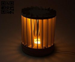 Dimmable Night Light E0011950 file cdr and dxf free vector download for laser cut