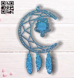 Dreamcatcher with owls E0011813 file cdr and dxf free vector download for Laser cut