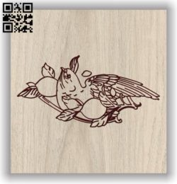 Eagle E0011662 file cdr and dxf free vector download for laser engraving machines