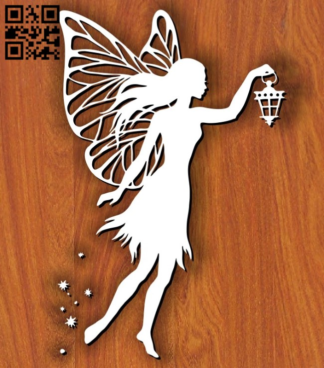 Fairy with lights E0011845 file cdr and dxf free vector download for laser cut