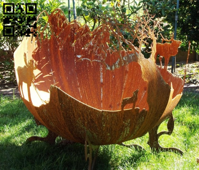Fire bowl E0011949 file cdr and dxf free vector download for laser cut