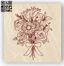 Flower E0011909 file cdr and dxf free vector download for laser engraving machines