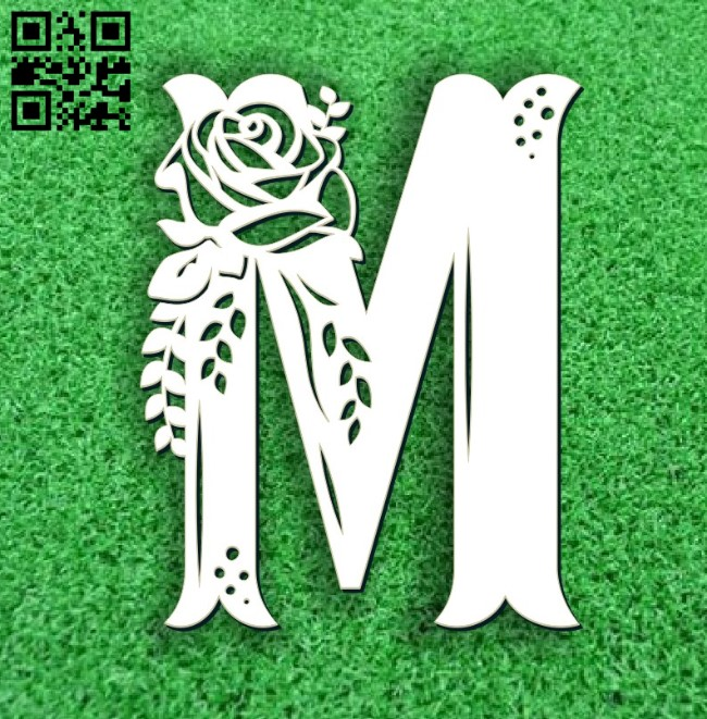 Flower M E0011676 file cdr and dxf free vector download for laser cut