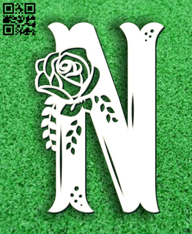 Flower N E0011677 file cdr and dxf free vector download for laser cut