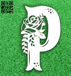 Flower P E0011679 file cdr and dxf free vector download for laser cut