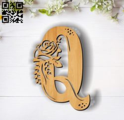 Flower Q E0011851 file cdr and dxf free vector download for laser cut