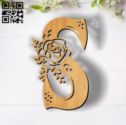 Flower S E0011853 file cdr and dxf free vector download for laser cut