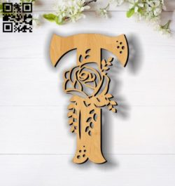 Flower T E0011854 file cdr and dxf free vector download for laser cut