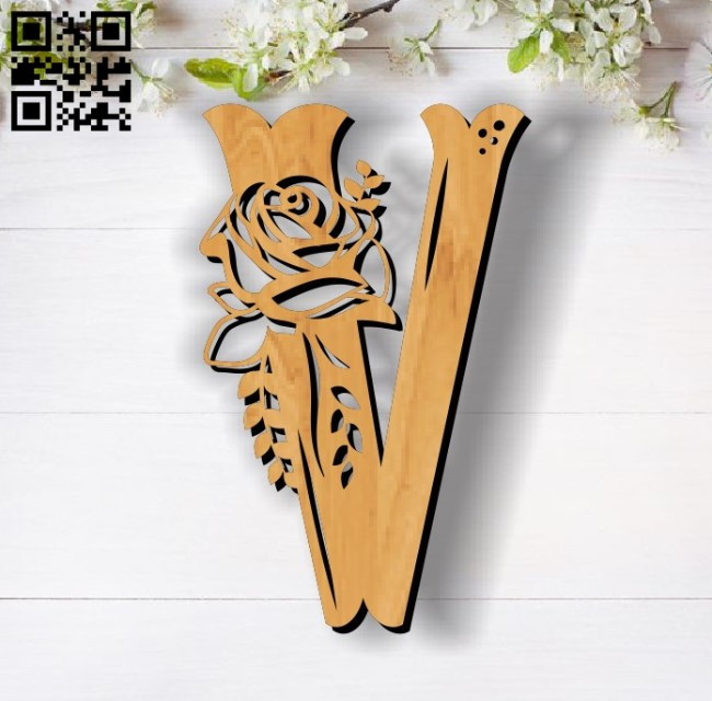 Flower V E0011856 file cdr and dxf free vector download for laser cut