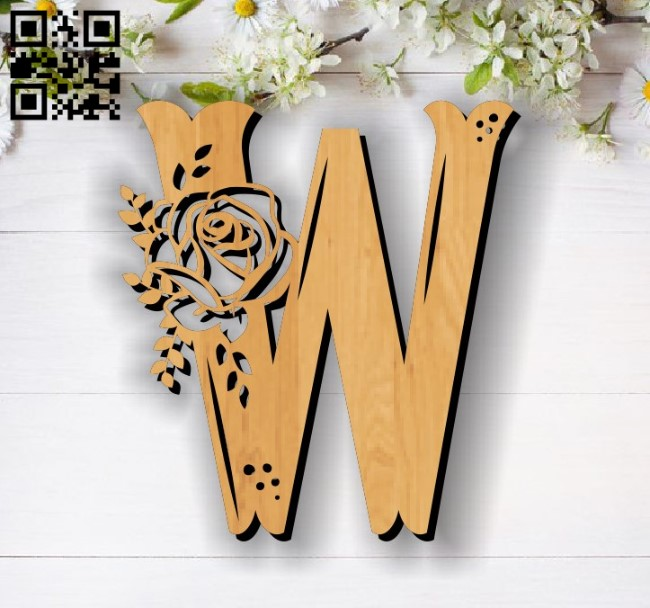 Flower W E0011857 file cdr and dxf free vector download for laser cut