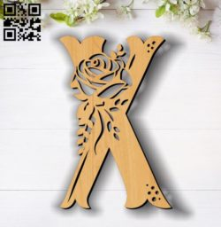 Flower X E0011858 file cdr and dxf free vector download for laser cut