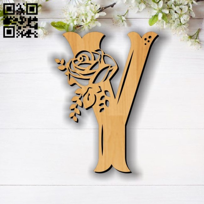 Flower Y E0011859 file cdr and dxf free vector download for laser cut