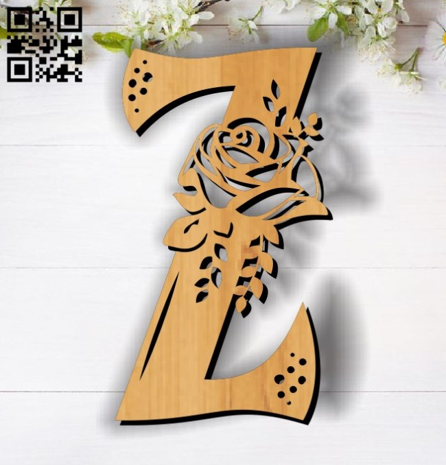 Flower Z E0011860 file cdr and dxf free vector download for laser cut