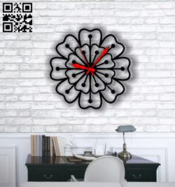 Flower clock E0011819 file cdr and dxf free vector download for Laser cut