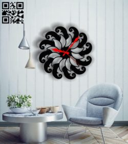 Flower clock E0011820 file cdr and dxf free vector download for Laser cut
