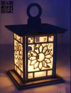 Flower lamp E0011644 file cdr and dxf free vector download for Laser cut