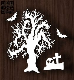 Hallow tree E0011769 file cdr and dxf free vector download for Laser cut