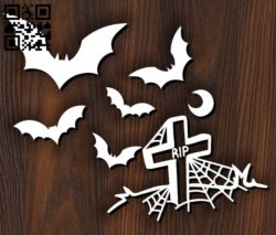 Halloween design E0011771 file cdr and dxf free vector download for Laser cut