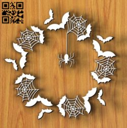 Halloween frame E0011770 file cdr and dxf free vector download for Laser cut
