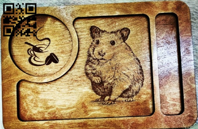 Hamster tray E0011782 file cdr and dxf free vector download for Laser cut