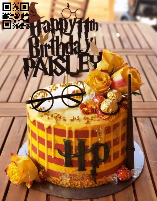 Harry Potter topper E0011753 file cdr and dxf free vector download for laser cut