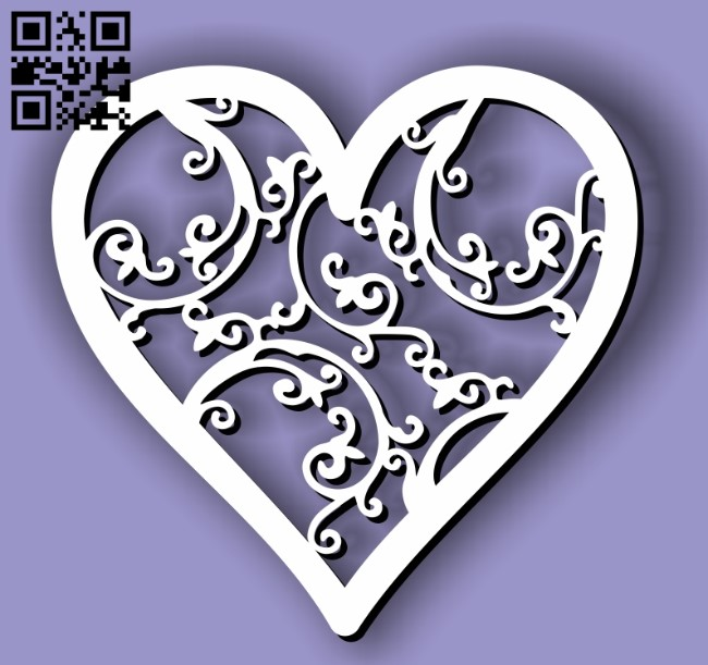 Heart E0011790 file cdr and dxf free vector download for Laser cut