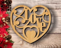 Heart love E0011757 file cdr and dxf free vector download for laser cut