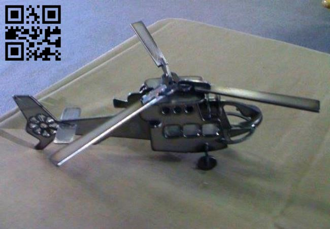 Helicopter E0011931file cdr and dxf free vector download for Laser cut Plasma