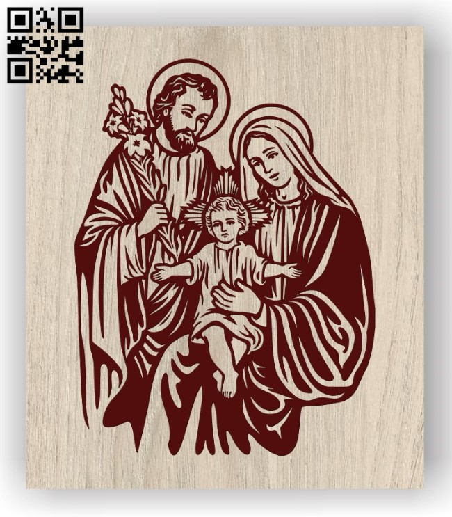 Holy family of jesus E0011843 file cdr and dxf free vector download for laser engraving machines