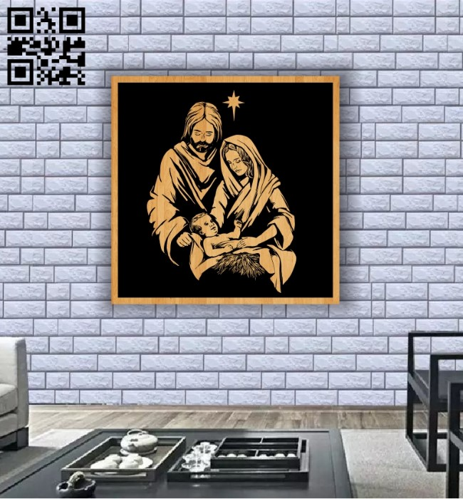 Holy family of jesus E0011904 file cdr and dxf free vector download for laser engraving machines