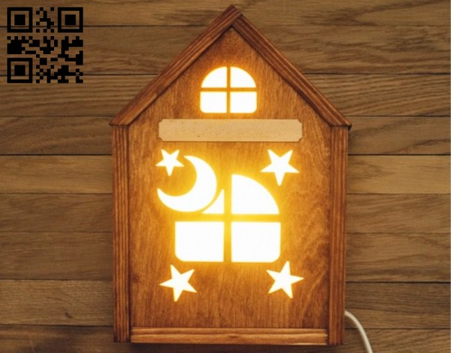 House night light E0011926 file cdr and dxf free vector download for laser cut