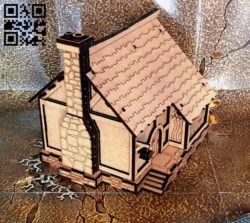 House with annex E0011913 file cdr and dxf free vector download for laser cut