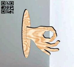 Housekeeper Hand E0011642 file cdr and dxf free vector download for Laser cut