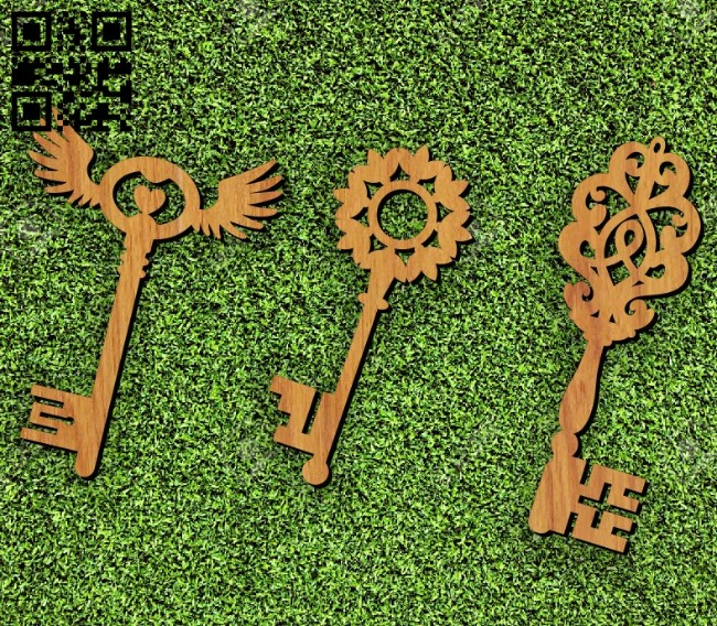 Keys E0011674 file cdr and dxf free vector download for laser cut