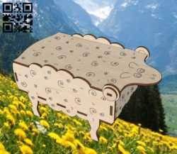 Lamb box E0011919 file cdr and dxf free vector download for laser cut