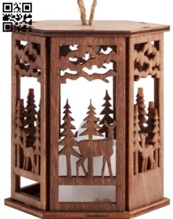 Lantern E0011817 file cdr and dxf free vector download for Laser cut