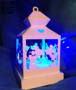 Lantern E0011916 file cdr and dxf free vector download for laser cut