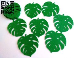 Leaf E0011804 file cdr and dxf free vector download for Laser cut