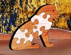 Lion Puzzle E0011648 file cdr and dxf free vector download for laser cut